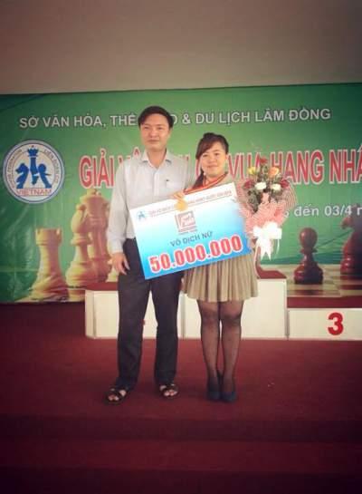 Hoàng Thị Như Ý giành chức vô địch giải vô địch cờ vua hạng nhất cúp quốc gia 2014